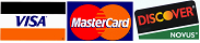 Accept Most Major Credit Cards Including Master Card, Visa, Discover