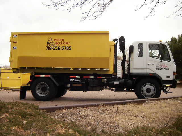 Truck with 18 Cubic Yard Rolloff Container